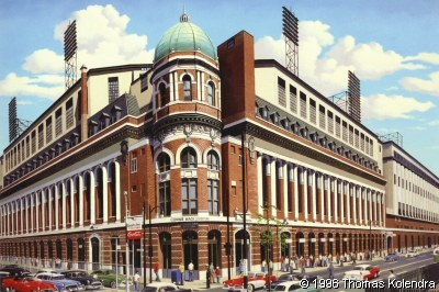 [ Shibe Park, in color, as seen from outside ]
